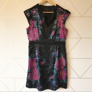 Nanette Lepore Silk Abstract Floral Dress